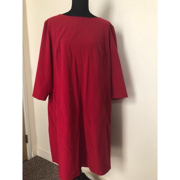 Tahari Dresses | Beautiful Red Plus Size Dress | Poshmark